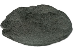 Variegated tire rubber powder